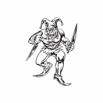 Jester with Chef Knives Decal