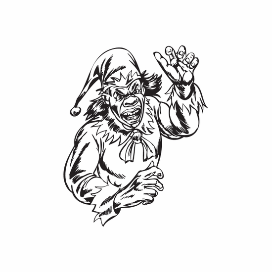 Jester with Arm Raised Decal