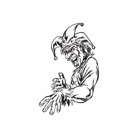 Jester with Arm Outstretched Decal