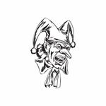 Jester with Long Tie Decal