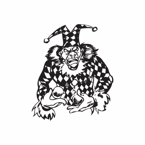 Checkered Jester Juggling Decal