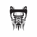 Chopper Wall Decal - Vinyl Decal - Car Decal - DC 152