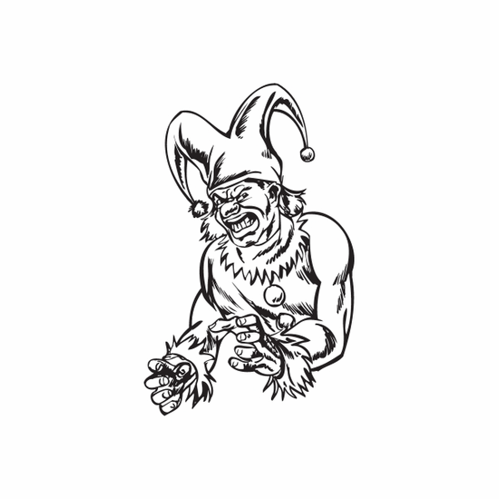 Angry Grabby Jester Decal