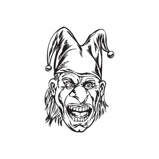 Gasping Jester Head Decal