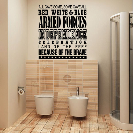 All Gave Some Typography Wall Decal