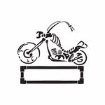 Chopper Wall Decal - Vinyl Decal - Car Decal - DC 153