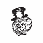 Top Hat Jester Head Decal