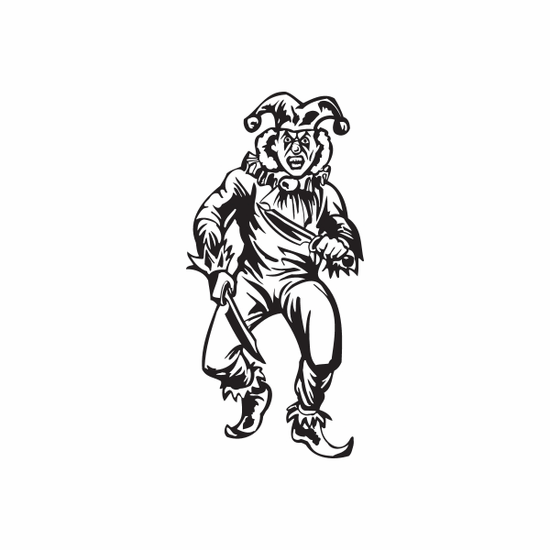 Jester with Throwing Knives Decal
