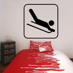 Sleeding Sign Decal