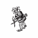 Woman Jester with Knives Decal