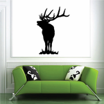 Looking Over on Grass Elk Decal