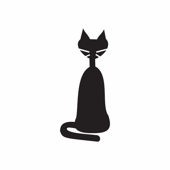 Cat Front Sitting Decal