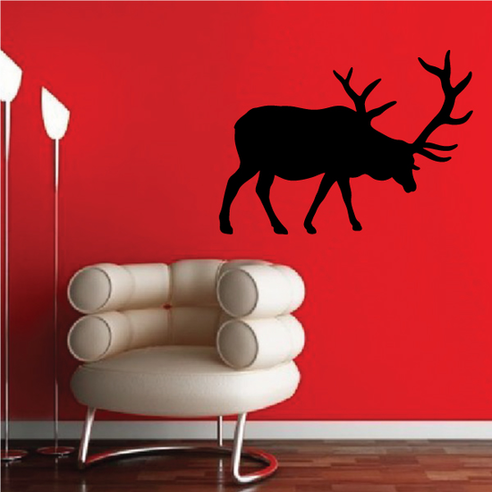 Lowered Head Bull Elk Decal