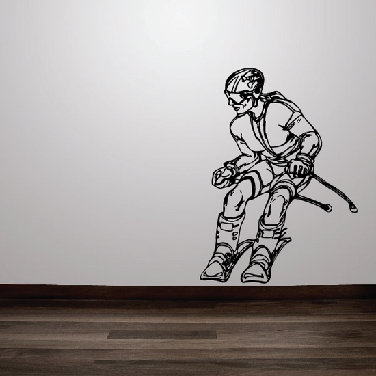 Cross Country Skier Decal