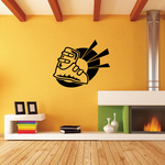 Skiing Wall Decal - Vinyl Decal - Car Decal - CDS059