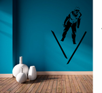 Skiing Wall Decal - Vinyl Decal - Car Decal - AL 004