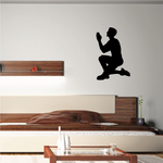 Praying Father on one knee Decal