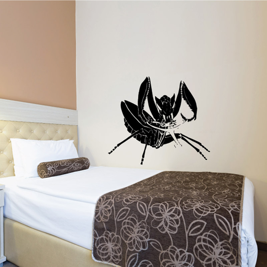 Praying Mantis Eating Decal