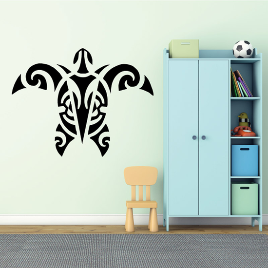 Native Tribal Style Sea Turtle Decal