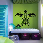 Smile Face Tribal Sea Turtle Decal