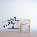 Skiing Wall Decal - Vinyl Decal - Car Decal - SM004