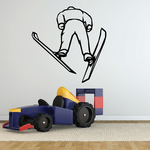 Skiing Wall Decal - Vinyl Decal - Car Decal - SM008