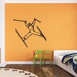 Skiing Wall Decal - Vinyl Decal - Car Decal - SM010