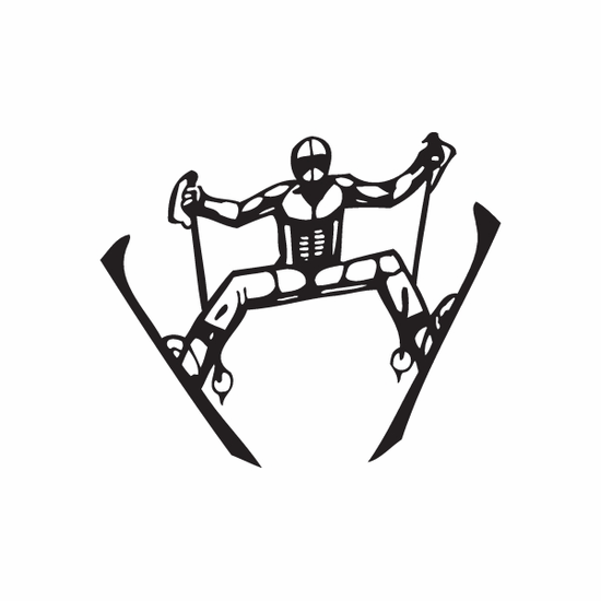 Skiing Wall Decal - Vinyl Decal - Car Decal - DC 005