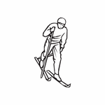 Skiing Wall Decal - Vinyl Decal - Car Decal - DC 007