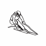 Skiing Wall Decal - Vinyl Decal - Car Decal - DC 011