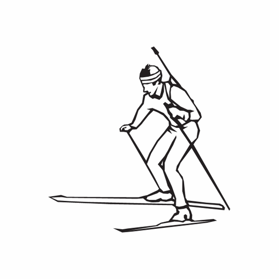 Skiing Wall Decal - Vinyl Decal - Car Decal - DC 020