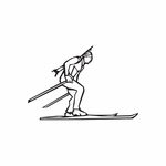 Skiing Wall Decal - Vinyl Decal - Car Decal - DC 021