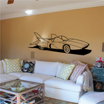 Futuristic Jet Car Decal