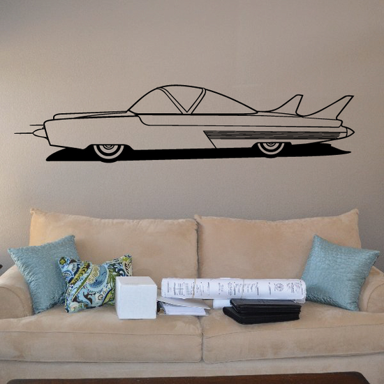 Futuristic Jet Side View Car Decal