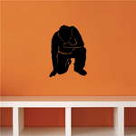 Crying Man Praying Decal