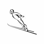 Skiing Wall Decal - Vinyl Decal - Car Decal - DC 029
