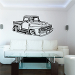 Old Truck Wall Decal - Vinyl Decal - Car Decal - MC48