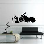 Motorcycle Man Praying Decal