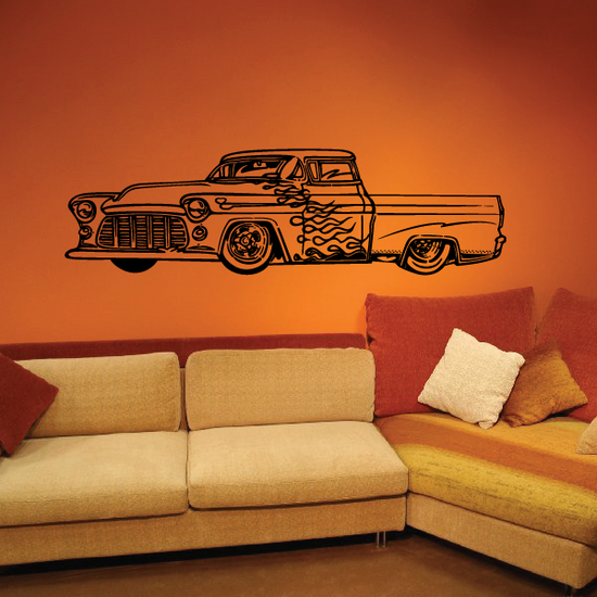 Old Truck Wall Decal - Vinyl Decal - Car Decal - MC57