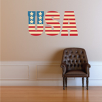 Stars and Stripes USA Printed Die Cut Decal
