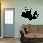 Praying to Cross from Motorcycle Decal