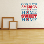 God Bless America Printed Die Cut Decal