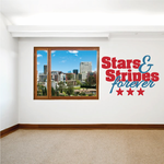 Stars and Stripes Forever Printed Die Cut Decal