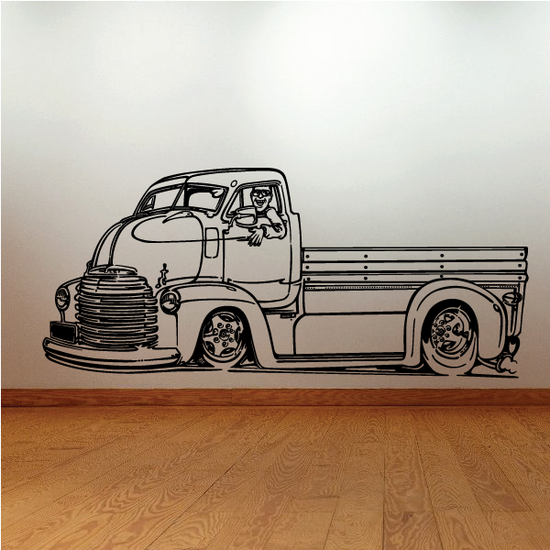 Old Truck Wall Decal - Vinyl Decal - Car Decal - MC70