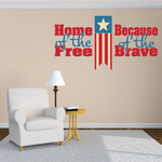 Home Of The Free Printed Die Cut Decal