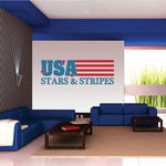 USA Stars and Stripes Flag Printed Die Cut Decal