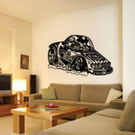 Cartoon Hot Rod Decal