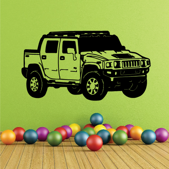Hummer Wall Decal - Vinyl Decal - Car Decal - 004