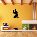 Praying Muscle Man with open hands Decal
