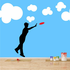 Catching Frisbee Decal